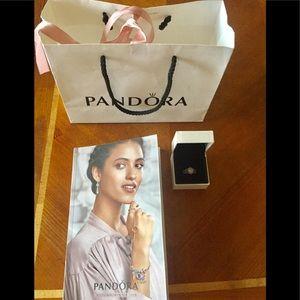 Pandora stacking ring set Radiant Elegance beaded